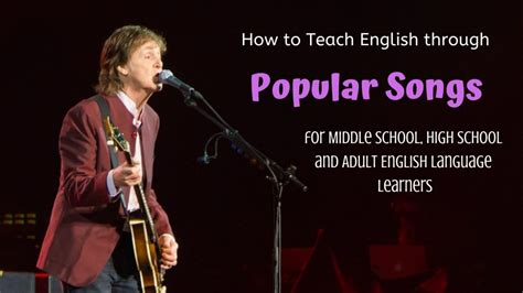 How to Use Popular Songs to Teach English | Owlcation
