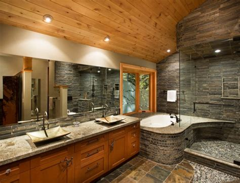 How To Use River Rock Tile in Bathroom Design: 19 Great ...