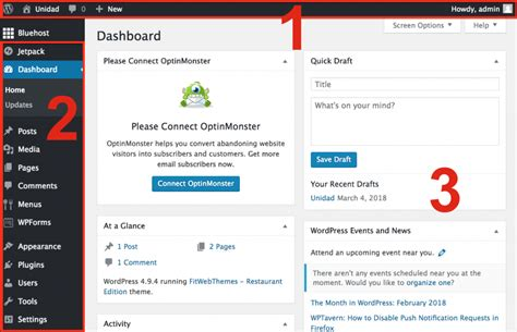 How to Use the WordPress Dashboard & Admin Page