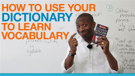 How to use your dictionary to build your vocabulary   YouTube