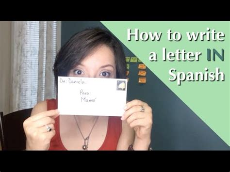 How to write a letter IN Spanish  for kids    YouTube