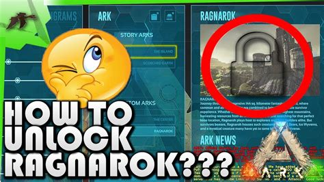 How Unlock Ragnarok Map Easy! Xbox One/Ps4   Ark Survival ...