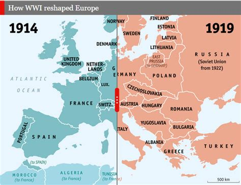 How World World War I Reshaped Europe – Map – HCPS History ...