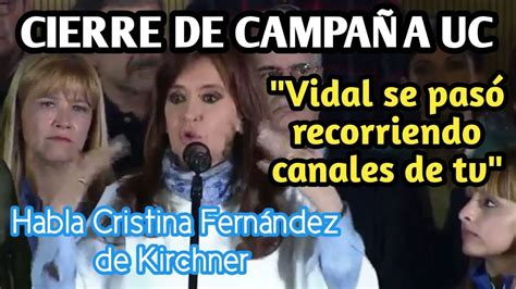 HOY: CIERRE DE CAMPAÑA DE CRISTINA FERNANDEZ DE KIRCHNER ...