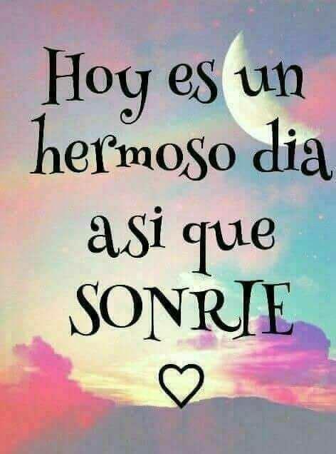 Hoy es un hermoso día, así que #sonríe #felicidad # ...