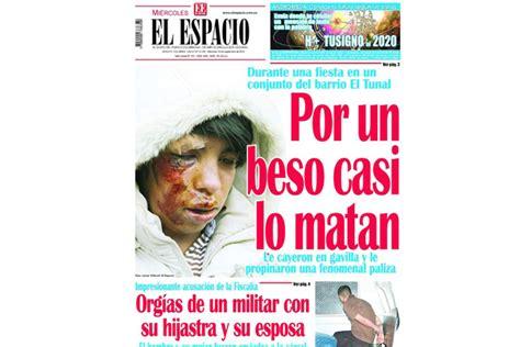 Hoy, última edición del diario El Espacio La Crónica del ...