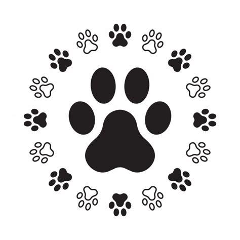 Huella de la pata del perro | Vector Premium