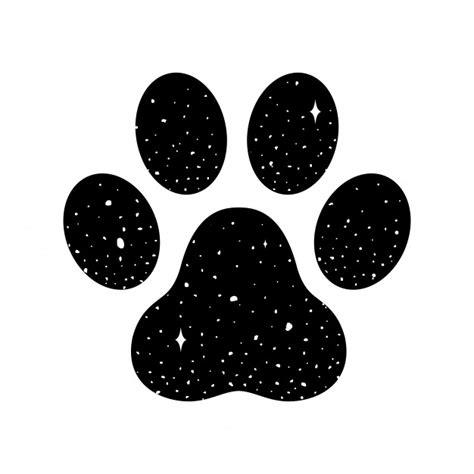 Huella de vector de pata de perro | Vector Premium