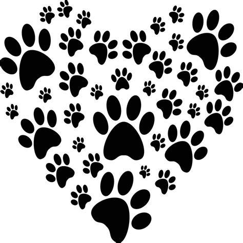Huellas de perro en forma de corazon | Huellas de perro ...