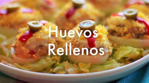 Huevos rellenos   Recetas de cocina fácil   YouTube