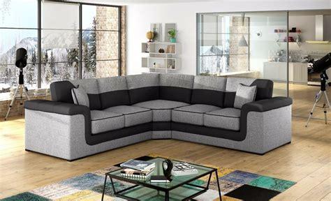 huge sale new large symphony leather + fabric corner sofa ...