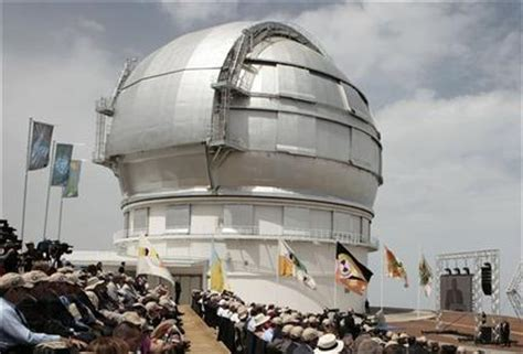 Huge telescope opens in Spain s Canary Islands