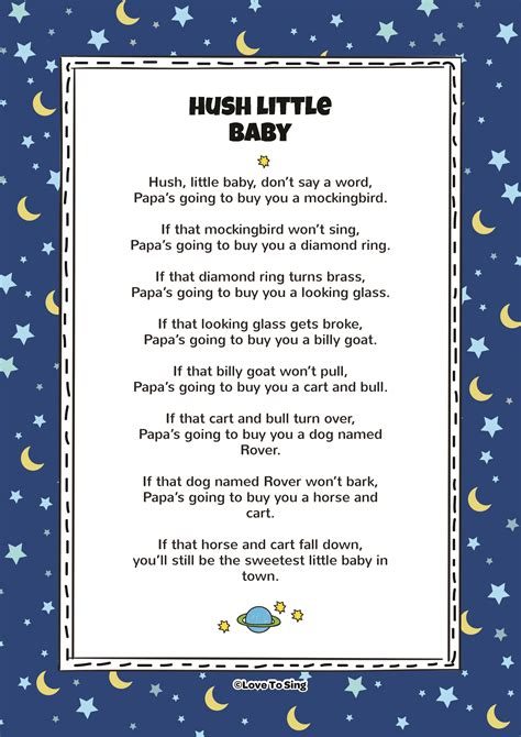 Hush, Little Baby | Kids Video Song with FREE Lyrics ...