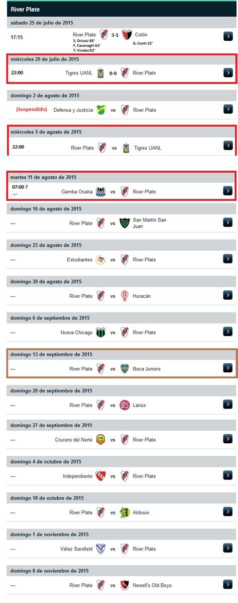 I  Calendario River Plate 2015   Club Atlético River ...