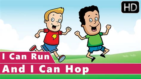 I Can Run And I Can Hop | Action Songs | Animation Nursery ...