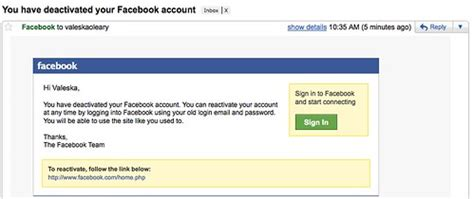 I deactivated my Facebook account. | Really? Then why the ...