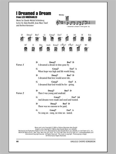I Dreamed A Dream  from Les Miserables  Sheet Music ...