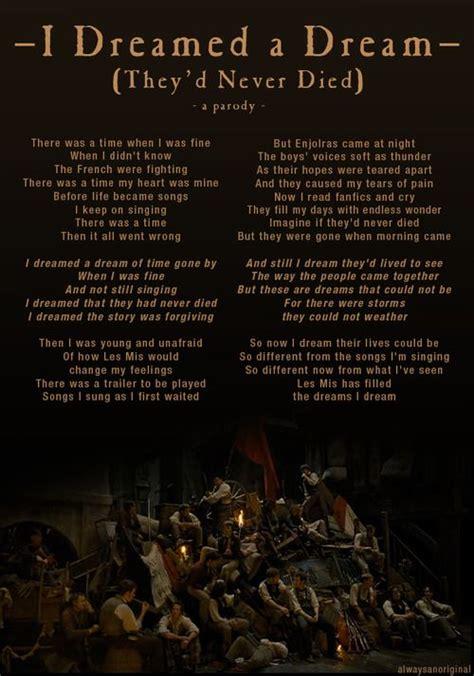 I Dreamed a Dream    Les Misérables   Music is by Claude ...