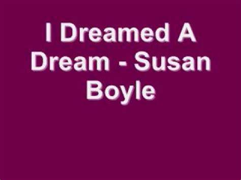 I Dreamed A Dream   Susan Boyle  Lyrics    YouTube