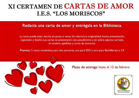 I.E.S LOS MORISCOS   XI CERTAMEN DE CARTAS DE AMOR