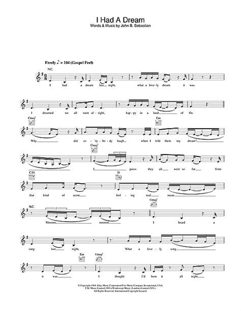 I Had A Dream chords by Joss Stone  Melody Line, Lyrics ...