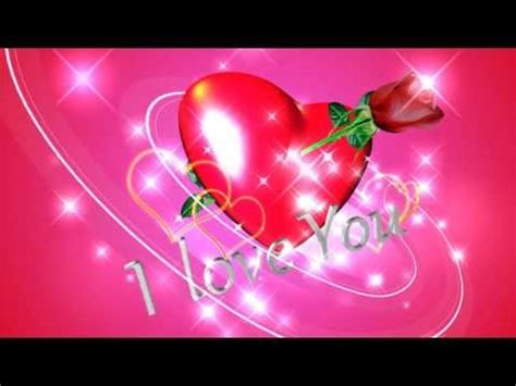I love You Background video animation   YouTube
