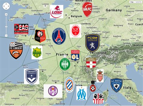 I made a Ligue 1 football map : Ligue1