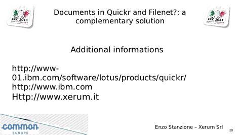 IBM Lotus Quickr 8.5 and IBM Filenet integration