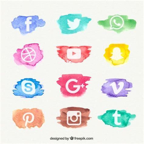 Ícone Aquarela Coleção Rede Social   icon   Iconos de ...