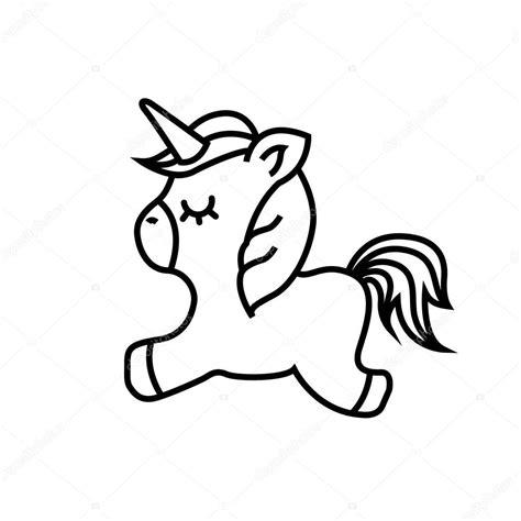 Ícone de unicórnio bonito desenho — Vetor de Stock ...