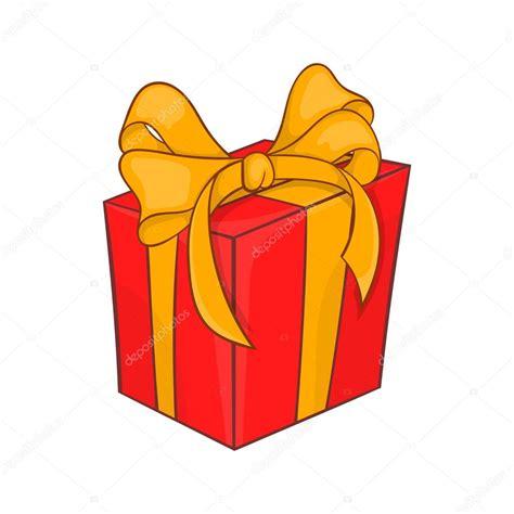 Icono de caja de regalo vacaciones, estilo de dibujos ...