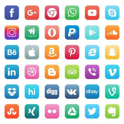 Iconos brillantes para redes sociales   Descargar Vectores ...