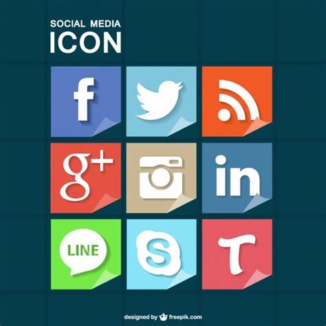 Iconos de redes sociales con textura de papel   Descargar ...
