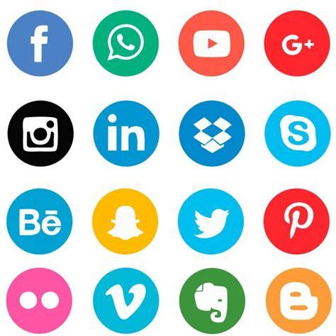 Iconos De Redes Sociales, Iconos De Redes Sociales, Redes ...