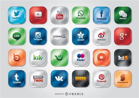 Iconos de redes sociales, íconos y logotipos de ...