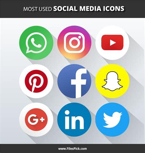 Iconos flat libres describen a las redes sociales y ...