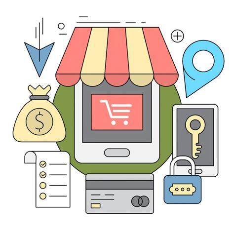 Iconos lineales acerca de compras online | Vector Gratis