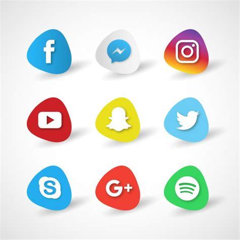 Iconos para redes sociales sobre un fondo blanco ...