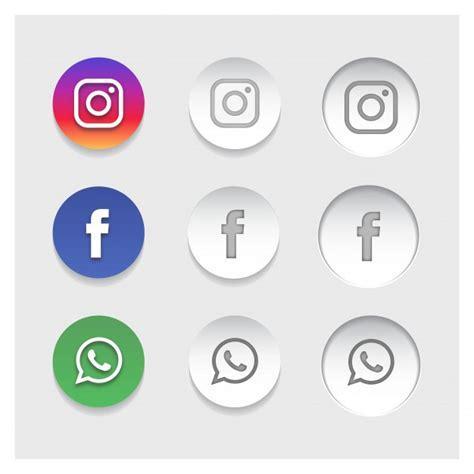 Iconos populares de redes sociales   Descargar Vectores gratis