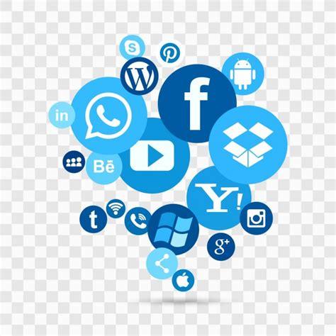 Icons azules de redes sociales   Descargar Vectores gratis