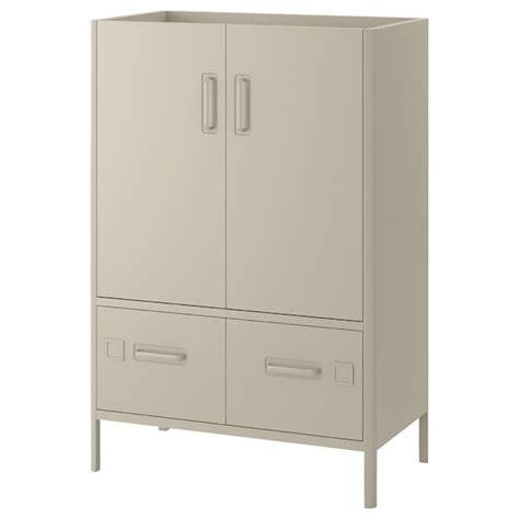 IDÅSEN Armario con cerradura, beige, 80x119 cm   IKEA