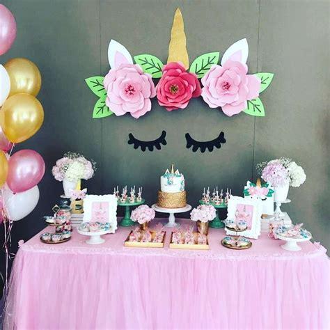Idea Decoración de cumpleaños de Unicornios ...