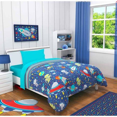 Idea Nuova Outer Space 3 Piece Toddler Bedding Set with ...