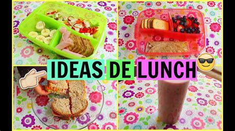 Ideas de lunch para llevar a la escuela  Saludables    YouTube