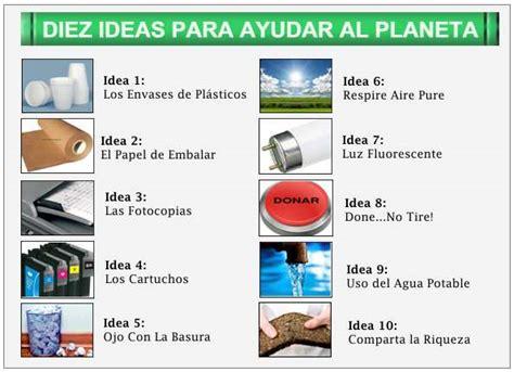 Ideas para cuidar el medio ambiente Proteger el Planeta Tierra