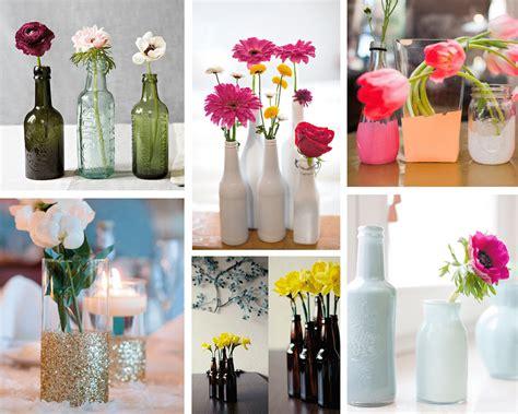Ideas para decorar con floreros reciclados