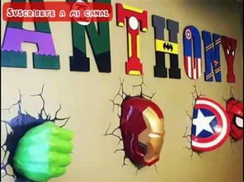 Ideas Para Decorar Habitaciones con Super Heroes   YouTube