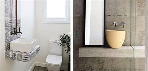 Ideas para decorar pequeños aseos con lavabos sobre encimera