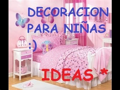 IDEAS PARA DECORAR UN DORMITORIO DE NIÑAS   YouTube