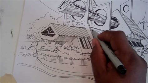 Ideas para dibujar una perspectiva Arq. David Sosa   YouTube